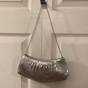 Handbags - Silver chainmail evening bag.